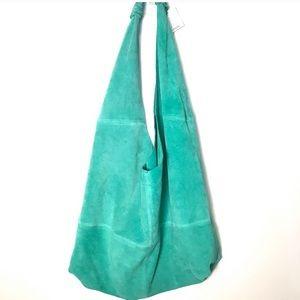 New Urban Outfitters aqua suede hobo handbag NWT